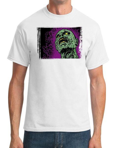 Cabeça do zombi do pop art legal - homens camiseta