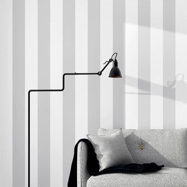 Gri Nordic Wtite Dikey Şerit Duvar Kağıtları Ev Dekor Oturma Odası Yatak Odası Duvar Kağıdı Şerit İletişim Kağıt