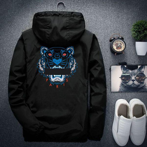 Tête de tigre en gros manteau manteau automne hommes femmes designer vestes sport sweat à capuche avec manches longues fermeture à glissière coupe-vent hommes vêtements hoodies