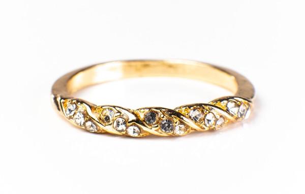 Bague de mariage tordue simple pour femmes en argent sterling S925 - 042