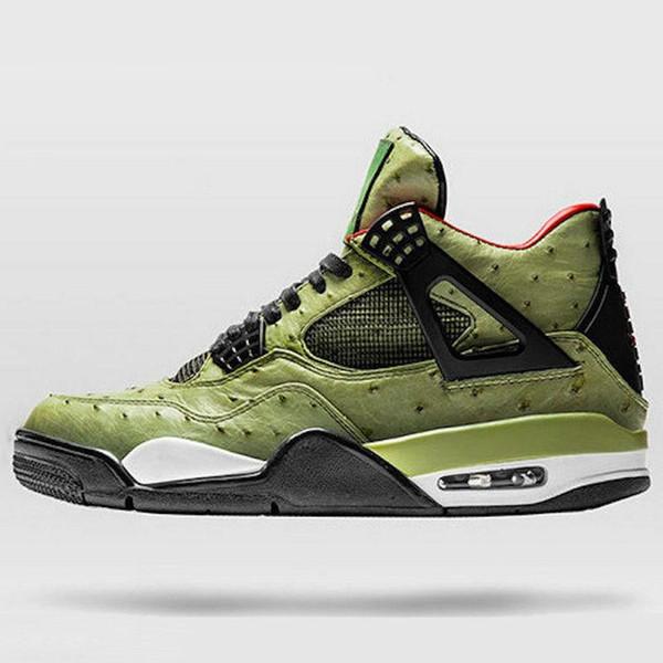 4 Travis Scott Cactus Jack The Shoe Surgeon Customs Men Basketball Shoes Desinger 4s Chaussures De Basket Ball Sports Trainer With Box