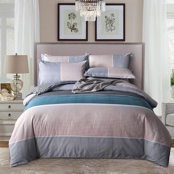 Classic Queen bedding set 5 size bed linen 4pcs/set duvet cover set Pastoral bed sheet AB side duvet cover 2019 bed