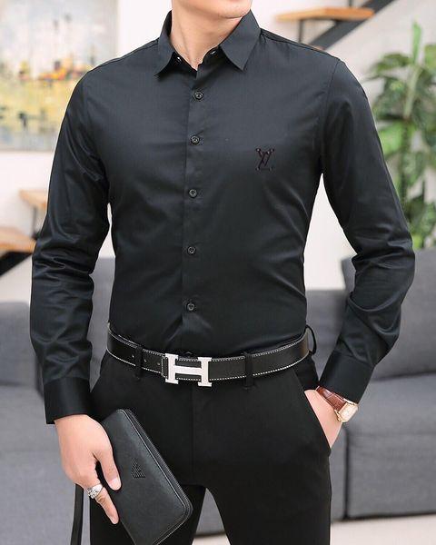 Hot 2019 Brand New Slim men shirt Retro Colour 3D floral printing Fashion casual dress men shirts men's medusa shirts