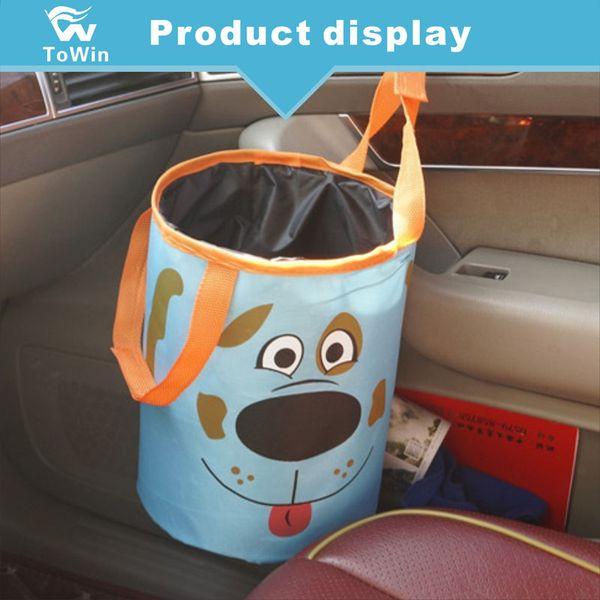 Car Garbage Bag Auto Seat Back Hanging Rubbish Storage Trash Bag Hanger Clips Removable Car Trash Bin Dust Portable Vehicle Interior Clean
