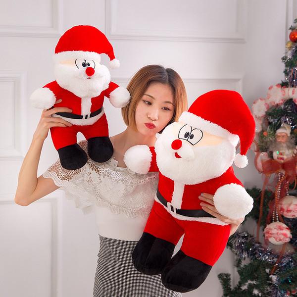 top popular Brandnew 25cm 40cm Plush Toys Santa Claus Christmas party supply Plush Toy Doll Grab Doll Female Birthday Christmas Gift kids toys 2019