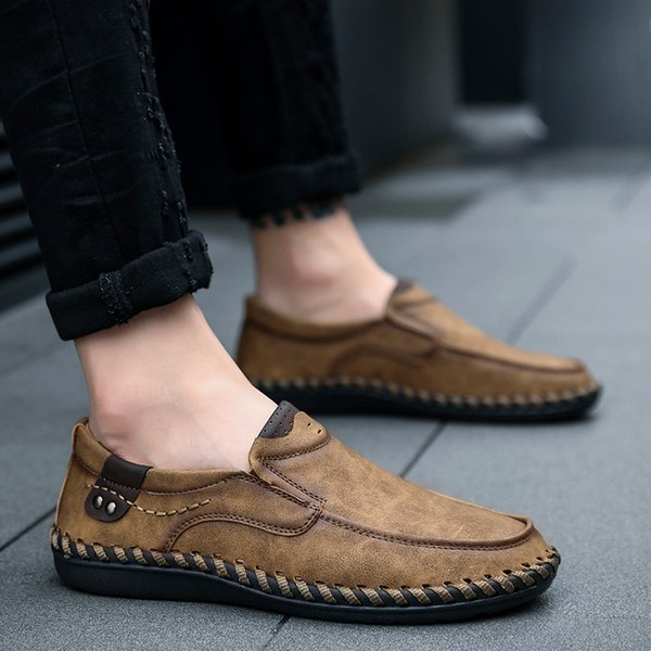 Plus Size 38 48 Classic Men Casual Shoes Loafers Big Mens Boat Shoes Handmade Large Slip On Driving Flats Man Moccasins Shoe Sale Shoes Uk From