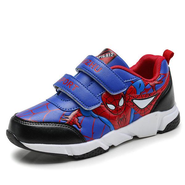Acheter Printemps Automne Enfant En Bas Âge Enfants Spiderman Chaussures Garçons Pu En Cuir Confortable Sport Enfants Chaussures Baskets École