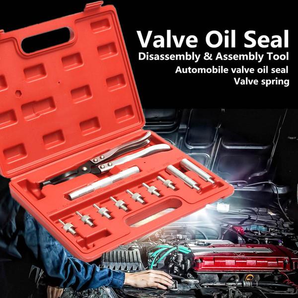 wholesale 11Pcs Auto Vehicle Automotive Valve Oil Seal Plier Remover Installer Tools Set Car Garage Kit Heavy Duty Tire Repair Tools