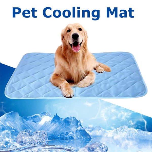 Summer Cooling Mats Ice Blanket Pet Ice Pad for Dogs Cats Kennel and Sofa Car (27.5IN*22IN)