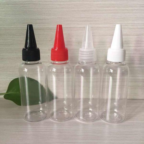 100 ml Flasche in Stiftform mit Twist-Off-Verschlusskappen PET-Kunststoff-Tropfflaschen E Flasche mit flüssiger Nadel und kindersicherer Verschlusskappe, lange Spitze