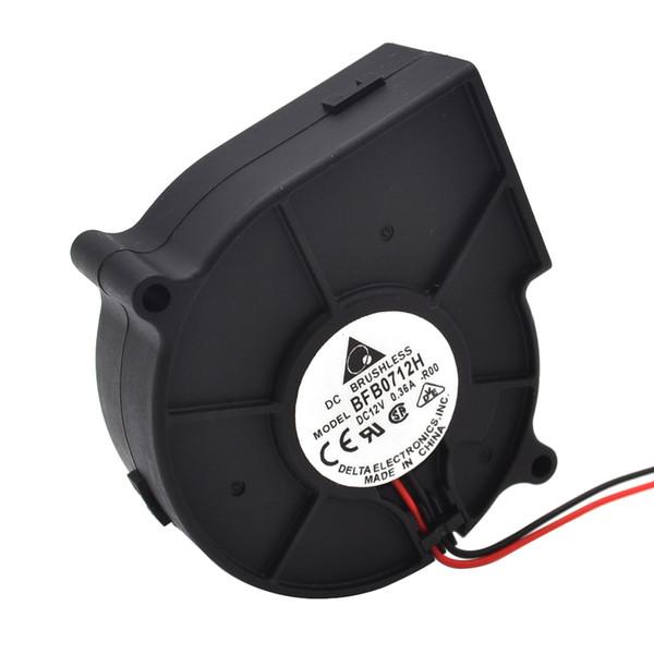 Free shipping Delta BFB0712H 7530 12V 0.36A projector turbofan cooling fan 75* 75*30mm projector fan
