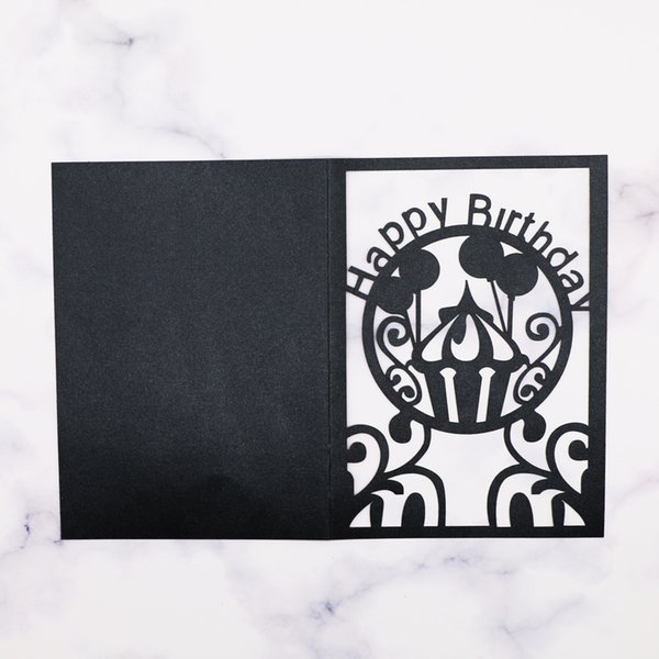 Black Sample Invitation Card Wedding Hollow Laser Card Birthday Party Baby Shower Party Supplies Hollow Out Invitation Card Beautiful Wedding
