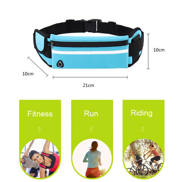Antirrobo teléfono móvil corriendo Riñonera Riñonera Cinturón Monedero para correr Jogging Ciclismo Deporte Cintura impermeable