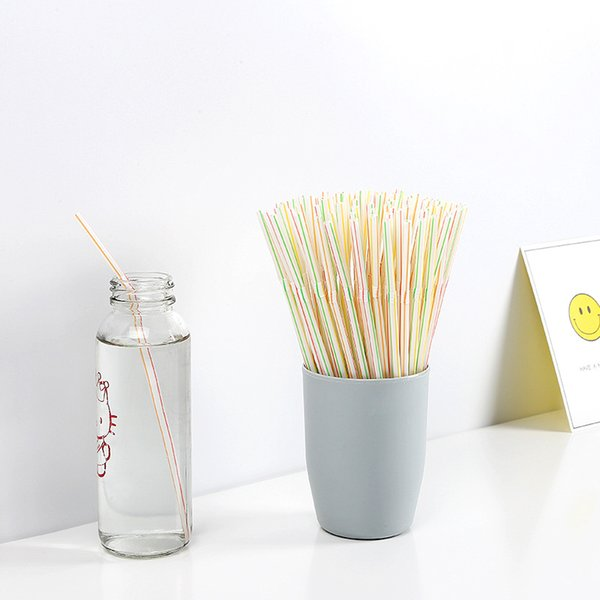 100pcs/Lot Plastic Drinking Straws Disposable Coffee Straws Bar Drinking Tools Birthday Wedding Party Decor 10 Lots ePacket