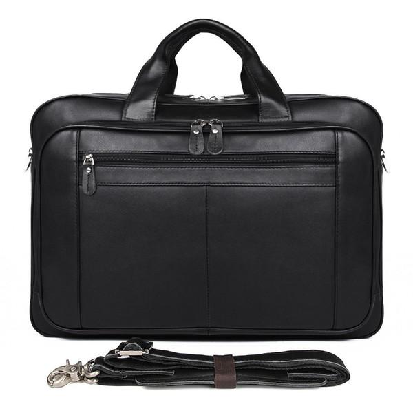 2019 Vintage Men Genuine Leather Briefcase Messenger Shoulder Bag Brands Business Handbag Men Travel Bag Retro Briefcase