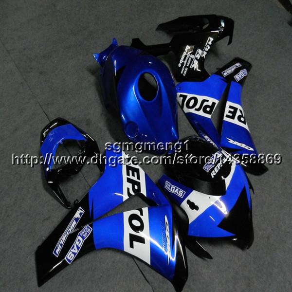 23colors + Botls Molde de inyección repsol azul artículo de motocicleta para HONDA CBR1000RR 2008 2009 2010 2011 plástico ABS kit de carenado del motor