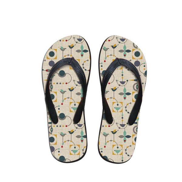 Mode Herren Flip Flops Strand geometrische Muster Schuhe außerhalb Sandalen Flops Sandalen Mann Sommer tägliche Abnutzung Flop