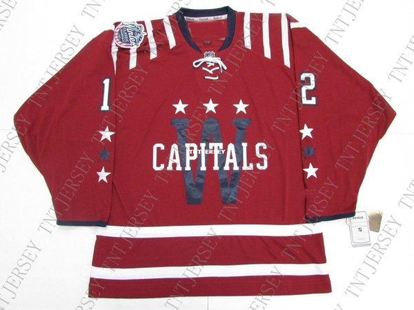 Cheap custom BONDRA #12 WASHINGTON CAPITALS 2015 WINTER CLASSIC JERSEY stitch add any number any name Mens Hockey Jersey XS-5XL