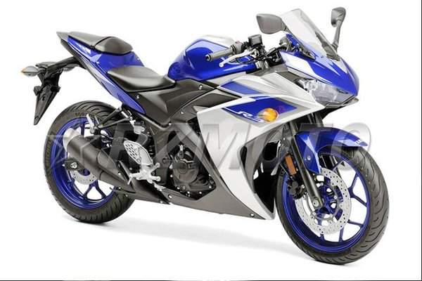 New Injection ABS Molding Motorcycle Fairing Kit For YAMAHA R3 R25 2015 2016 15 16 plastic Fairings Bodywork set custom blue white nice