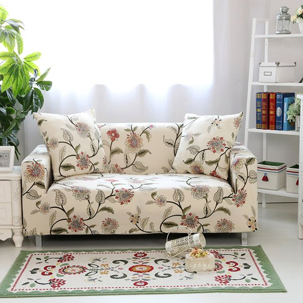 Floral Printing Stretch Elastic sofa cover cotton sofa towel Slip-resistant covers for living room