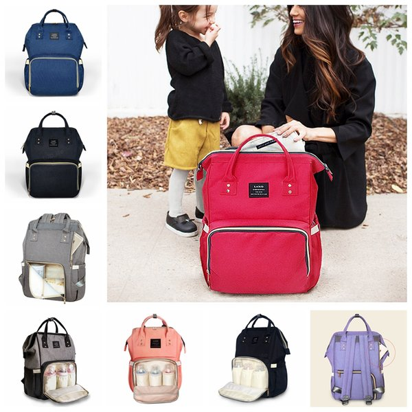 Land Nappies Diaper Bags Mommy Backpacks Pack Waterproof Maternity Handbags Mother Nursing Travel Outdoor storage Bags LJJA2923
