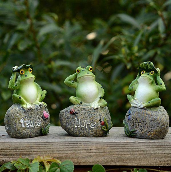 Acheter / Accueil Résine De Jardin Décoration Art Extérieur Résine Figurine  Animale Animaux Grenouilles / Poussins / Lapins Ornement Jardin Décor De ...