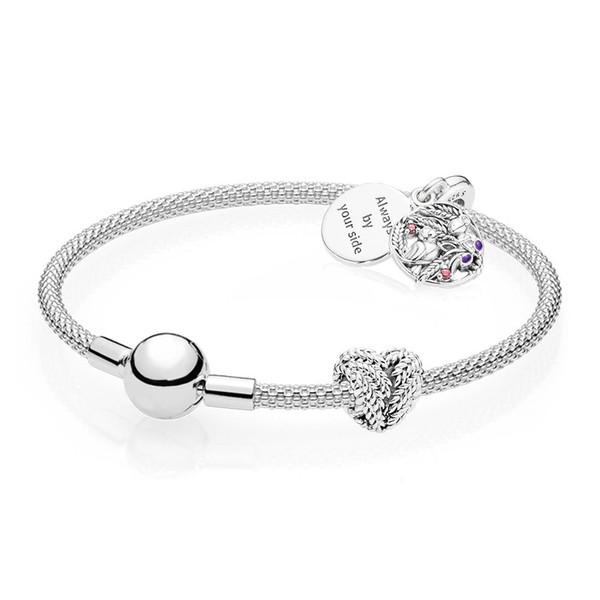 Original 925 Sterling Silver Pan Bracelet Always Your Bracelet Set Jewelry for Women Gift