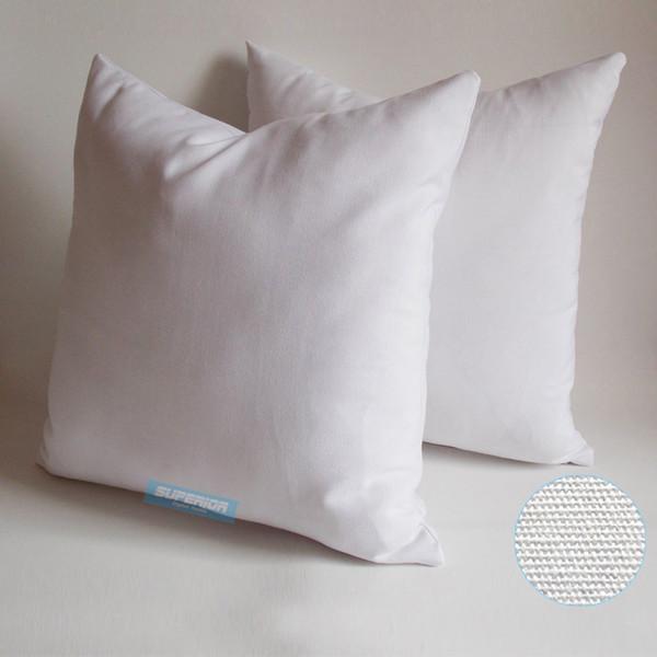 100 stücke 18x18 Zoll 8 Unzen Leinwand Kissenbezug Plain Raw Cotton Blank Kissenbezug Für Handzeichnung / Stickerei / Gedruckt Blank Kissenbezug
