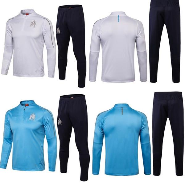 d3e3625e8 Marseille kit 2019 season jersey sportswear long sleeves training suit  THAUVIN L.GUSTAVO 18 19 football team uniforms club team custom sales