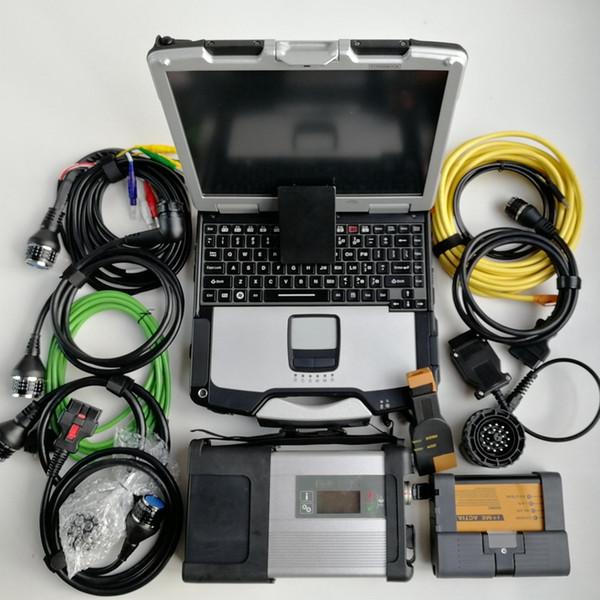 pour BMW Icom A2 B C MB étoile C5 SD connecter C5 wifi compact 4 1 To SSD V07.2019 logiciels ordinateur portable utilisé CF-30