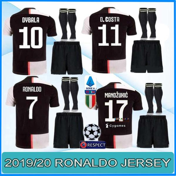Neue 2019 2020 JUVENTUS Fußball Trikot JUVE DYBALA RONALDO HIGUAIN BUFFON T-Shirt Futbol T-Shirt Maillot Männer und Kinder Trikot Fußball Trikot