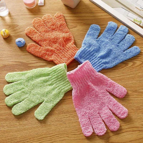 best selling Moisturizing Spa Skin Care Cloth Bath Glove Exfoliating Gloves Cloth Scrubber Face Body Bath Gloves LX6203