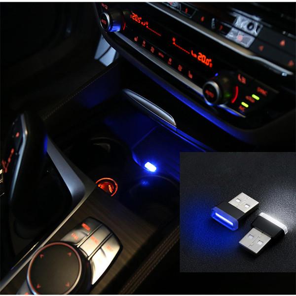 USB LED Luz Universal para a Interface All Car Charger Computer Power Bank USB Mini Iluminação LED Lanterna Decoração Car Styling