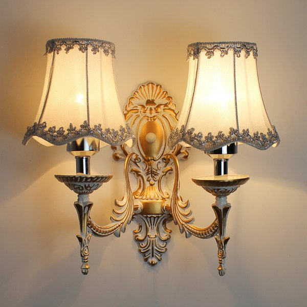 lámpara de cabeza de doble pared deslizante única verdadera princesa de la moda ofhead tela rústica de la vendimia
