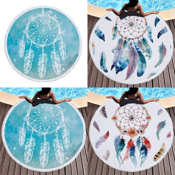 150cm Dreamcatcher With Tassel Style Beach Yoga Towels Round Tapestry Wind Chime Swimming Blankets For Kids Adults Many Style 23 5jm ZZ