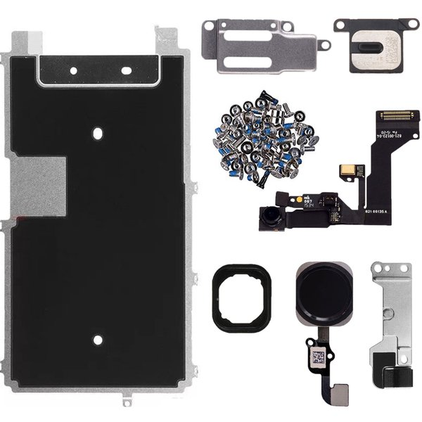 Full Set lcd parts For iPhone 6s 6s Plus Full LCD Display Repair Parts Front Camera Ear Speaker Plate home button
