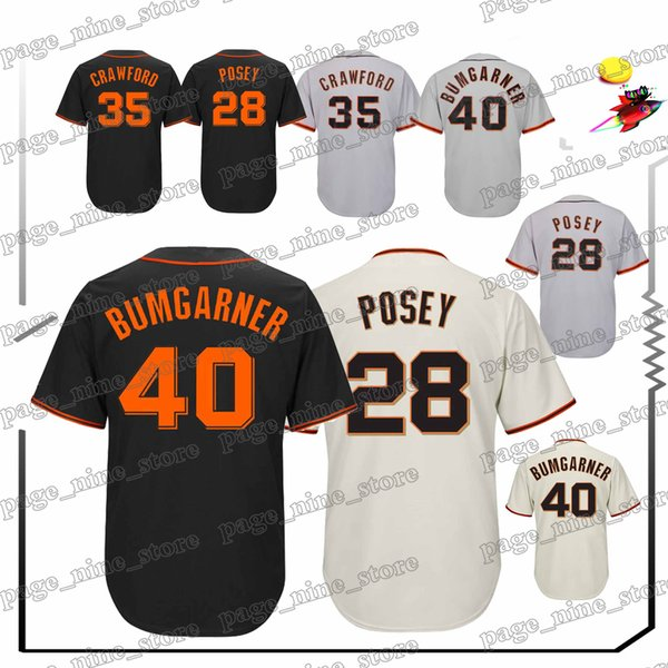 pick up 43fb5 ba757 2019 San Francisco Giants Baseball Jerseys 28 Buster Posey 40 Madison  Bumgarner 22 Will Clark 35 Brandon Crawford Jersey From Page_nine_store,  $23.26 ...