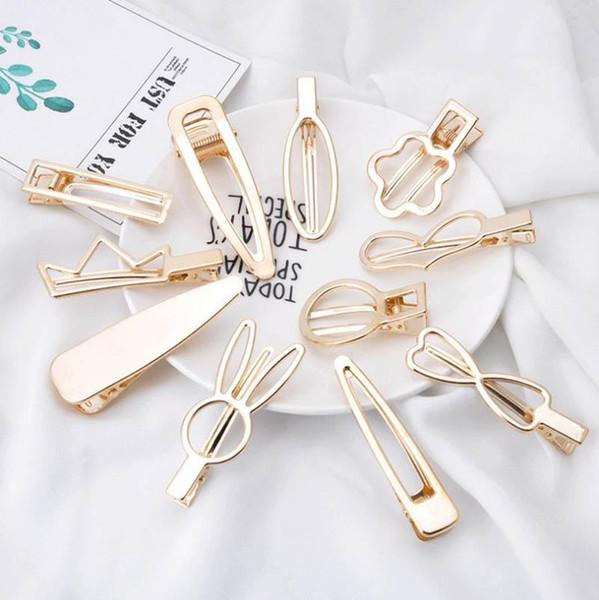 Korean Ins DIY designer hair clips women gold princess girls hair clips hair accessories for women BB clips fashion kids barrettes