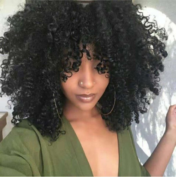 Afro Kinky Curly Human hair Wig Pre plucked 360 Lace Frontal Human Hair Wigs For Black Women full ends 180 Density Remy Wigs