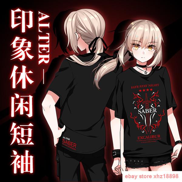 Anime Fate/Grand Order Saber Alter Cosplay T-shirt Unisex Short Sleeve TEE Tops Men Women Unisex Fashion tshirt Free Shipping