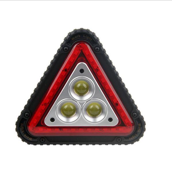 Nueva luz de advertencia de llegada LED luz de advertencia de falla de tráfico 30W COB portátil lámpara de trabajo luz de emergencia del coche para acampar pesca