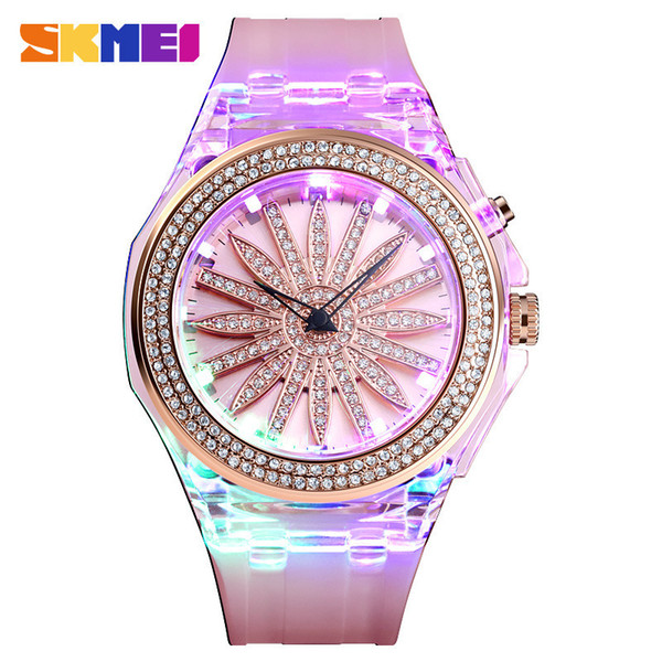 Led Coloured Lights Hollow Out Flower Tremble Every Dog Has His Day Ma'am Quartz Wrist Watch Factory