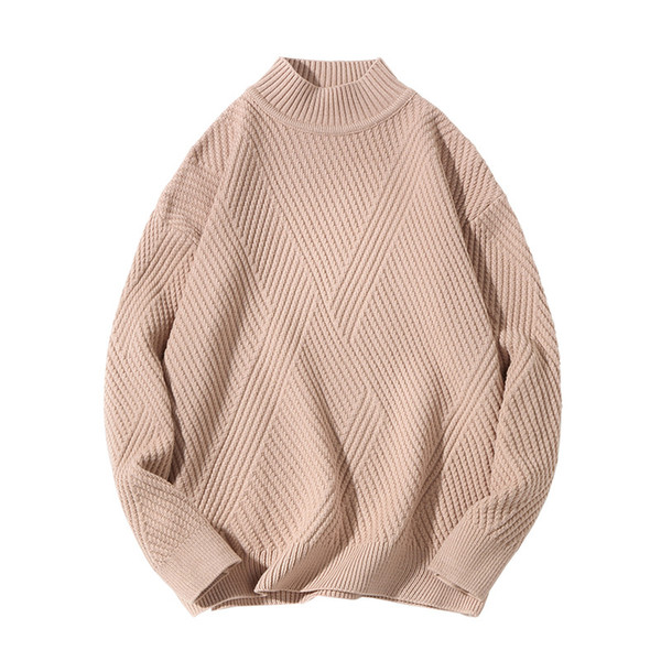 New Fashion Sweater Mens Pullover Solid Slim Fit Sweater Knitred Woolen Autumn Korean Style Casual Men Clothes