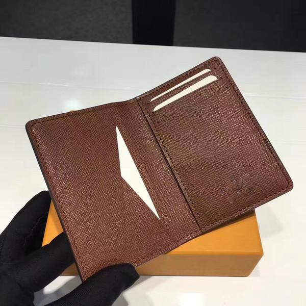 Отличное качество карманный организатор NM damier графит m60502 мужские кожаные кошельки держатель карты n63145 n63144 кошелек id кошелек двойные сумки