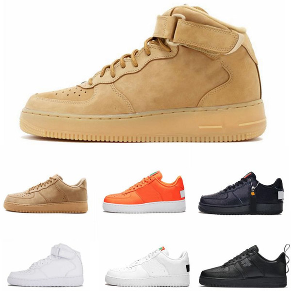 1 Utility Classic Black White Dunk Men Women Running Shoes Red One Sports Skateboarding High Low Cut Wheat Trainers Sneakers 36 45 Sports Shoes