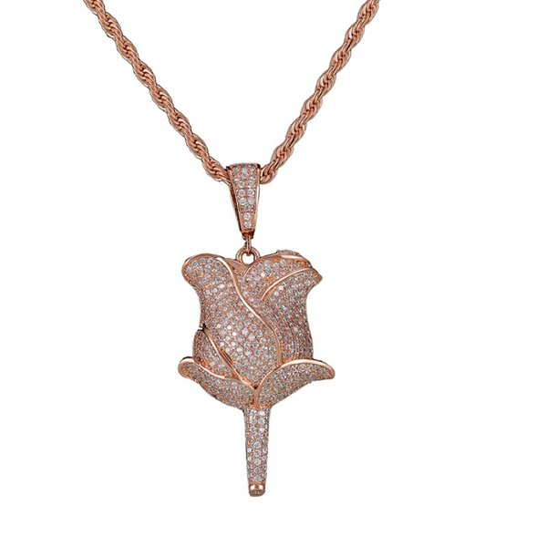 rosegold pendant with 20inch rope chain
