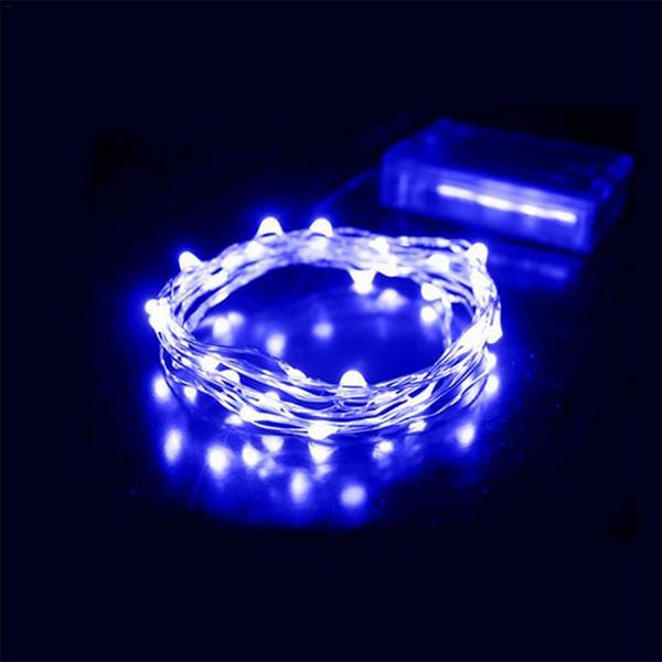 4m 40 LED con pilas Garland luces de cadena de plata de alambre de cobre vino ligero Botella Para el hogar Decoración del árbol de navidad