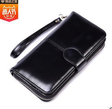 Hot! wholesale 2018 famous brand fashion single zipper cheap luxury designer women pu leather wallet lady ladies long purse #003