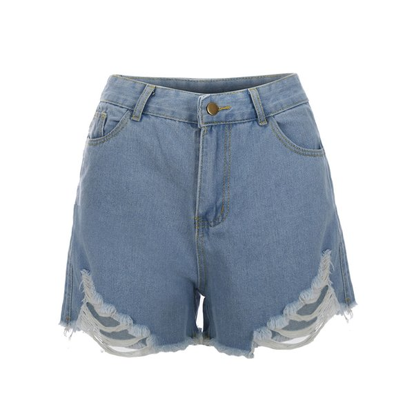 New Female Pockets Hole Wash Shorts Sexy Ripped Fashion Denim Shorts Summer Personality Design Hot Pants 2019 Vaqueros#Y30