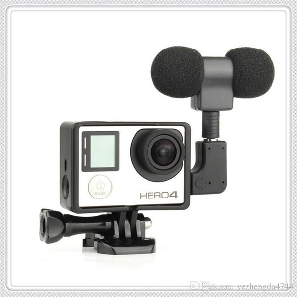 Mini Stereo Microphone Standard Frame Case for Gopro Hero 4 3+3 USB to 3.5mm Mic Adapter Cable Wholesale